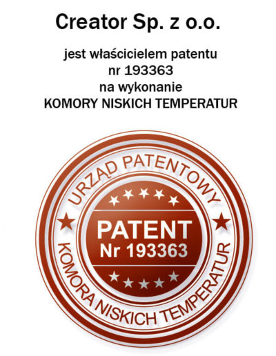 Patent for Cryochambers execution